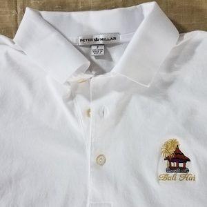 Peter Millar Golf Polo Shirt Embroidered Bali Hai